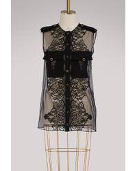 Givenchy - Blouse à manches courtes avec inserts de dentelle - Lyst