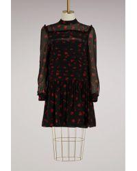 Miu Miu - Strawberries Print Silk Dress - Lyst