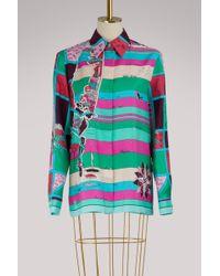 Emilio Pucci - Florida Printed Silk Shirt - Lyst