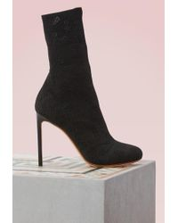 Francesco Russo | Stretch Sock Ankle Boots | Lyst