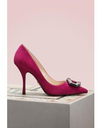Prada - Suede Court Shoes - Lyst