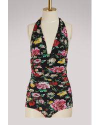Dolce & Gabbana - Draped Swimsuit - Lyst