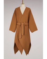 J.W. Anderson | Wool Coat With Pointed Hem | Lyst