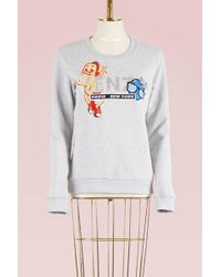 KENZO   Hot Dog Cotton Sweatshirt   Lyst