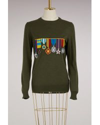 Stella Jean - Virgin Wool Medal Jumper - Lyst