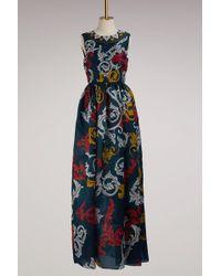 Mary Katrantzou - Shaw Silk Sleeveless Gown - Lyst