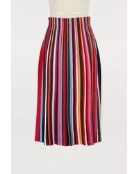 Tory Burch - Ellis Striped Jersey Skirt - Lyst