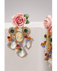 Dolce & Gabbana - Roses Earrings - Lyst