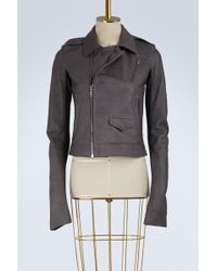 Rick Owens - Leather Biker Jacket - Lyst