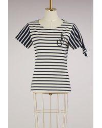 J.W. Anderson | Striped Knot T-shirt | Lyst