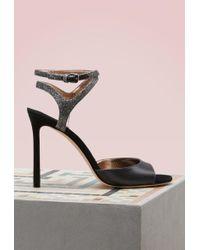 Jimmy Choo - Helen 100 Satin And Glitter Sandals - Lyst