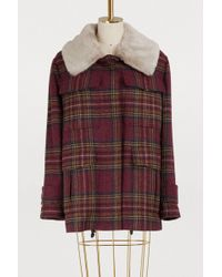 Maison Père - Plaid Coat - Lyst