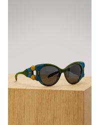Prada - Tapestry Sunglasses - Lyst