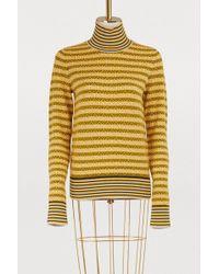 Carven - Wool-blend Jacquard Turtleneck Jumper - Lyst