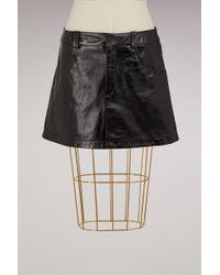 Chloé | Short Leather Skirt | Lyst