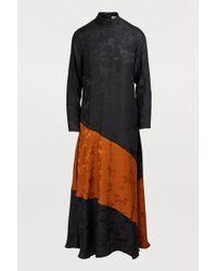 Ganni - Ackerly Silk Dress - Lyst