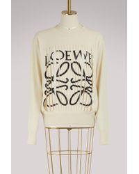 Loewe - Cut-out Sweatshirt - Lyst