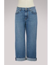 Alexander McQueen - Embroidered Boyfriend Jeans - Lyst