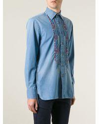 Ermanno Scervino Embroidery Detail Denim Shirt - Lyst