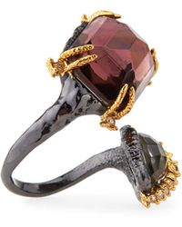 Alexis Bittar Elements Rocky Metal Ring with Pearoctagon Pyrite - Lyst