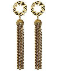 House Of Harlow 1960 Sunburst Tassel Earrings - Lyst