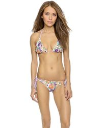 MINKPINK Wild Keepsake Reversible Bikini Top - Multi - Lyst