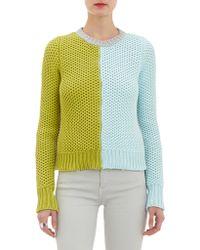 Alexander Lewis - Colorblock Tuckstitch Pullover Jumper - Lyst