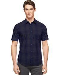 Calvin Klein Modern Fit Ombre Plaid Sportshirt - Lyst