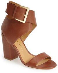 Bettye Muller 'Wilton' Leather Ankle Strap Sandal - Lyst