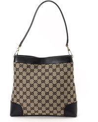 Gucci Black Gg Shoulder Bag - Lyst