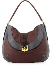 orYANY Bessie Colorblock Leather Hobo Bag - Lyst