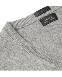 J.Crew Cashmere Vneck Sweater - Lyst