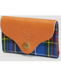 The Quality Mending Co. - Harkness Tartan Wallet Tartan - Lyst