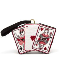 Olympia Le-Tan Queen Of Hearts Embroidered Clutch - Lyst