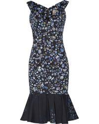 Preen Morgan Floralprint Cottonblend Dress - Lyst