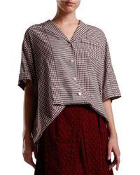 Svilu - Checkered Shirtdress - Lyst
