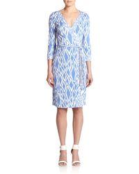 Diane von Furstenberg Banded Julian Silk Jersey Wrap Dress - Lyst