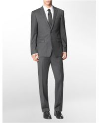 Calvin Klein Body Slim Fit Grey + Blue Pinstripe Suit Jacket - Lyst