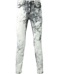 Neil Barrett Acid Wash Jeans - Lyst