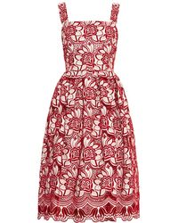 Dolce & Gabbana Floral Macramé-Lace Dress - Lyst