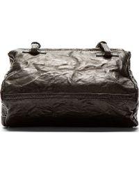 Givenchy Black Textured Leather Mini Pandora Pepe Bag - Lyst