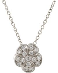 Linda Lee Johnson - Diamond & Platinum June Pendant Necklace Size Os - Lyst