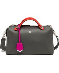 Fendi By The Way Small Multicolor Satchel gray - Lyst