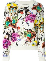 Mary Katrantzou Anthozoa Cotton Sweatshirt - Lyst