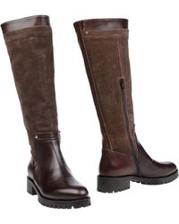 Napoleoni | Leather and Suede Knee-High Boots | Lyst