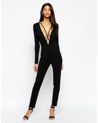 Asos Jumpsuit With Lingerie Detail - Lyst