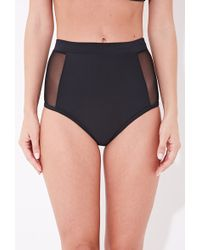 Forever 21 Mesh High-Waisted Cheeky Bottoms - Lyst
