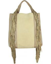 Alberta Ferretti | Fringed Leather Tote Handbag | Lyst