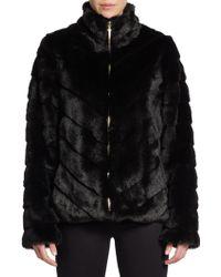 Ellen Tracy - Faux Fur Blouson Jacket - Lyst