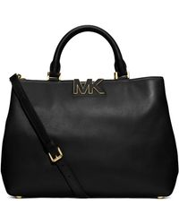 Michael by Michael Kors Florence Leather Large Satchel - Lyst